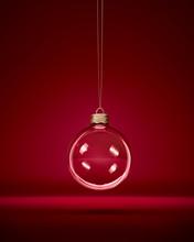 Glass Christmas Bauble Hanging...