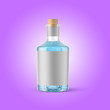 canvas print picture - 3d rendering plastic bottle mockup