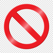 Prohibiting Sign. Icon With Re...