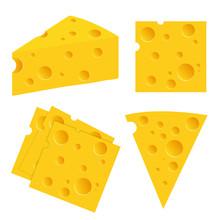 Cheese Set Vector Illustration...