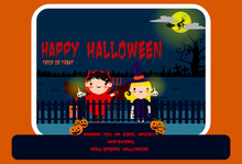 Halloween Party Invitation Poster Or Card Illustration Design