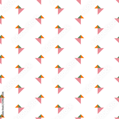 Photo  Abstract origami birds seamless repeat pattern