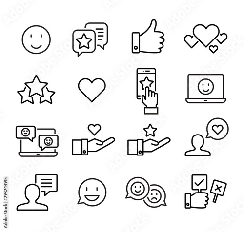 Social Media Icons - Likes Wallpaper Mural
