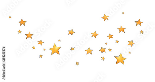 Obraz Collection of stars style sketch cartoon watercolor. - fototapety do salonu