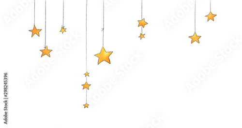 Collection of stars style sketch cartoon watercolor. - 298245396