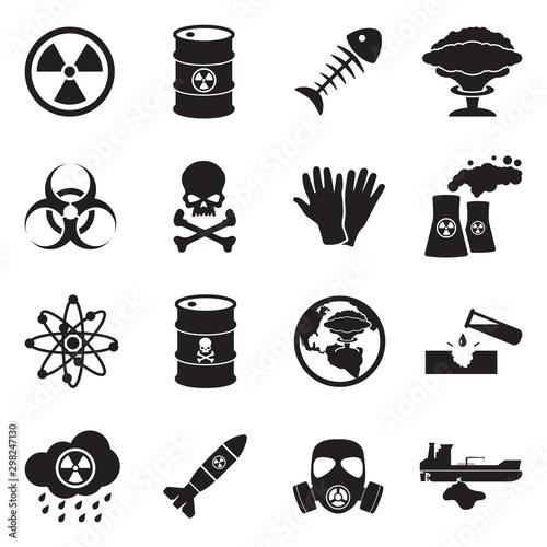 Fotografia Biohazard And Nuclear Icons