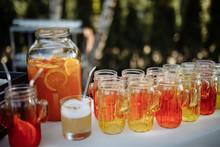 Natural Orange Cocktail In A Jar