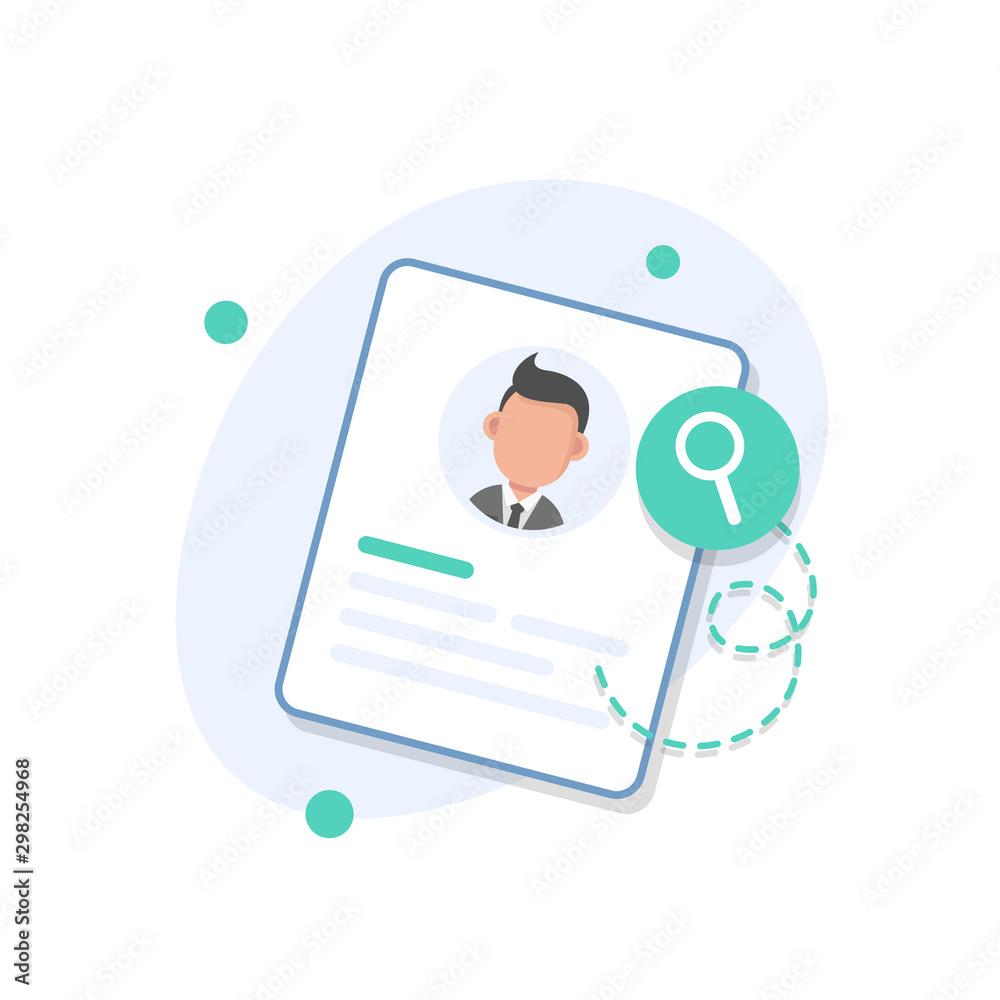 Fototapeta Personal info data, user or profile card details symbol