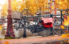 Bike Over Canal Amsterdam City...