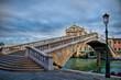 ponte degli scalzi am canal grande in Venedig am frühen morgen, Italien