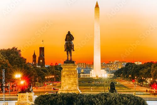 Fotografia Washington, USA, Washington Monument is an obelisk on the National Mall