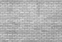 Monochrome Grey Brick Wall Wit...