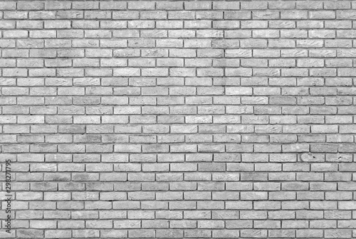monochrome grey brick wall with repeating pattern - 298271795