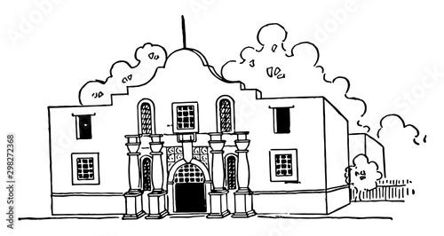 Photo Alamo vintage illustration