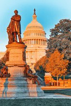 Washington, USA, United States Capitol,and James A. Garfield Monument.