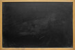 canvas print picture Abstract texture of chalk rubbed out on blackboard or chalkboard background, can be use as concept for school education, dark wall backdrop , design template , etc.