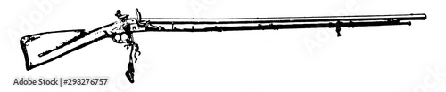 Photo Flintlock Musket, vintage illustration.