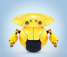 Bright Yellow Robotic Toy Roll...