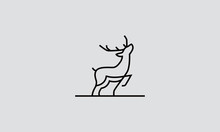 Deer Line Art Logo Design Insp...
