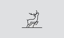 Deer Line Art Logo Design Inspirations