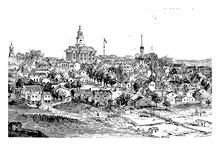 Vicksburg During The Civil War Vintage Illustration
