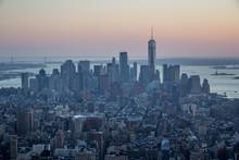 Beautiful Sunset In New York, ...