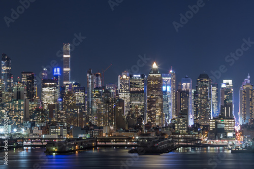 Staande foto New York Sunset and night view of Manhattan, cityscapes of New York, USA