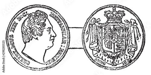 William IV, vintage illustration.
