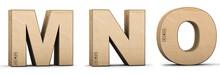 Cardboard Texture Letters M, N...