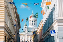 Helsinki Cathedral With Colorf...