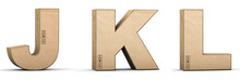Cardboard Texture Letters J, K...