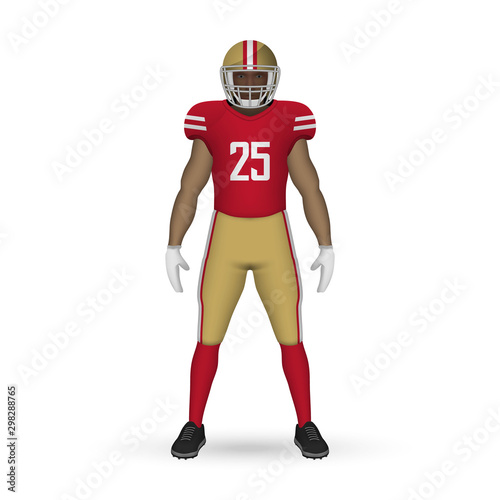 Photo 3D realistic American football player