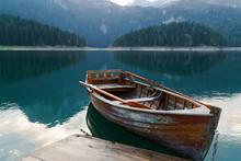 Mountain Lake With Coniferous ...