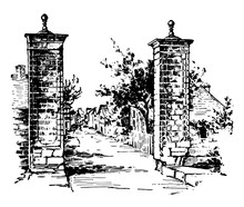 St. Augustine Vintage Illustra...