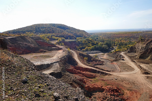 Bauxite mine in the dell of mountain matra Wallpaper Mural