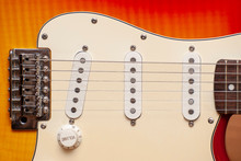 The Location Of The Strings Of The Electric Guitar Relative To The Pickup.