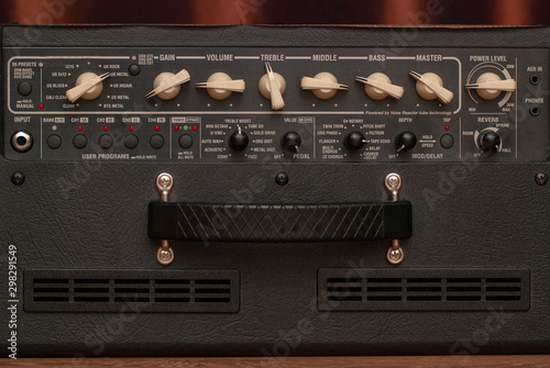 classic amp knobs for electric guitar Canvas Print