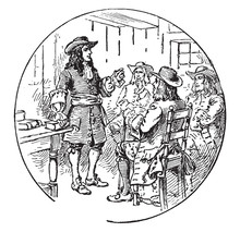 Quakers,vintage Illustration