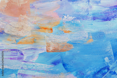 Abstract art background hand drawn acrylic painting Fototapet