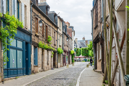 Obraz BOURGES, FRANCE - May 10, 2018: Street view of downtown in Bourges, France - fototapety do salonu