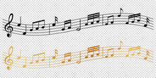 Musical Notes Melody On Transp...