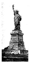 The Statue Of Liberty Vintage Illustration