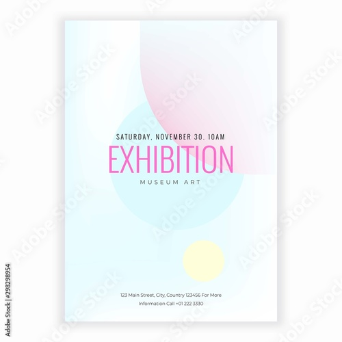 Fototapety, obrazy: Elegant exhibition flyer templates isolated on white abstract background design. Modern trends background