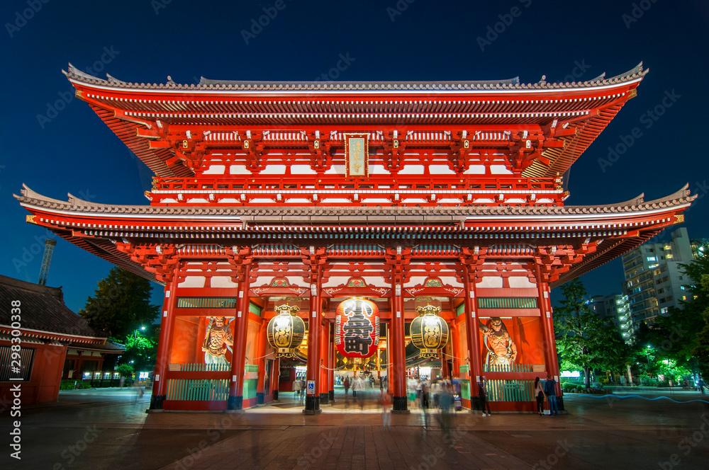 Fototapety, obrazy: Asakusa, Tokyo at Sensoji Temple's Hozomon Gate, Japan.