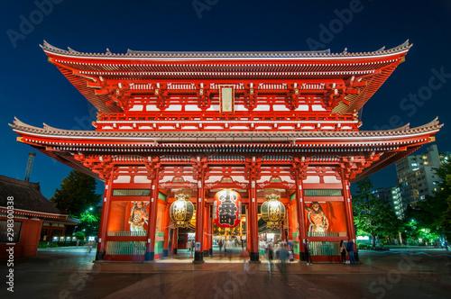 Photo sur Toile Tokyo Asakusa, Tokyo at Sensoji Temple's Hozomon Gate, Japan.
