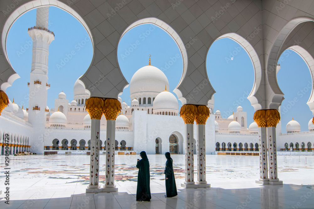 Fototapety, obrazy: Sheikh Zayed Grand Mosque in Abu Dhabi, the capital city of United Arab Emirates.