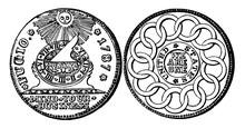 Silver Fugio Coin, 1787 Vintag...