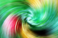 Spiral Christmas Green Yellow Red Blurred Gradient Background