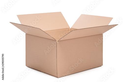 Foto Pudełko opakowanie kartonowe na białym tle