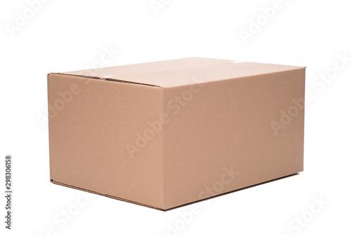 Pudełko opakowanie kartonowe na białym tle Fototapet
